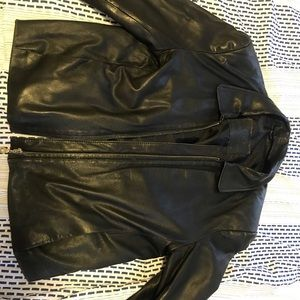 MODENA BLACK LEATHER JACKET